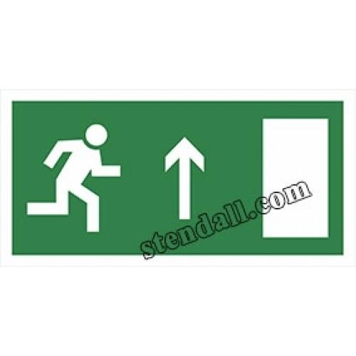 знак безпеки напрямок до евакуацийного виходу наклейка 33