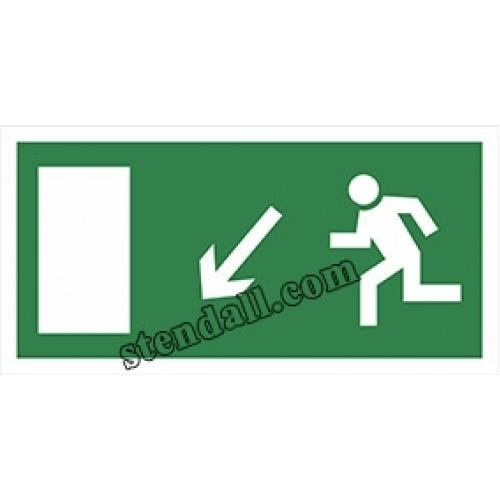 знак безпеки наліпка напрямок руху до дверей 47