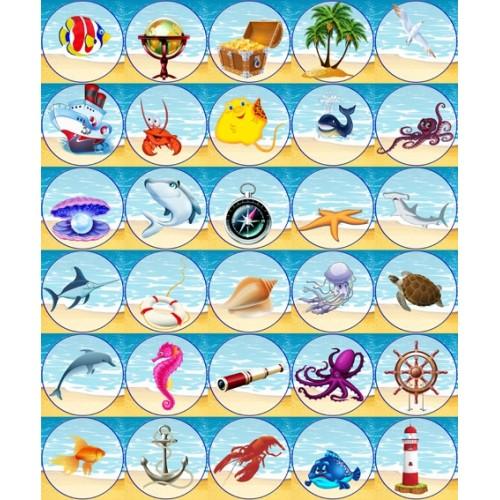 Наклейки морские для детского сада 25