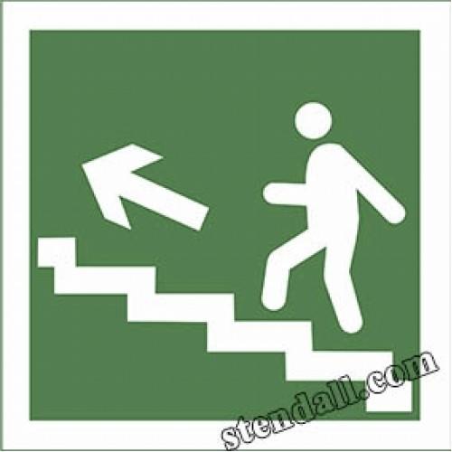 знак безпеки напрямок до евакуаційного виходу вгору по сходам 11