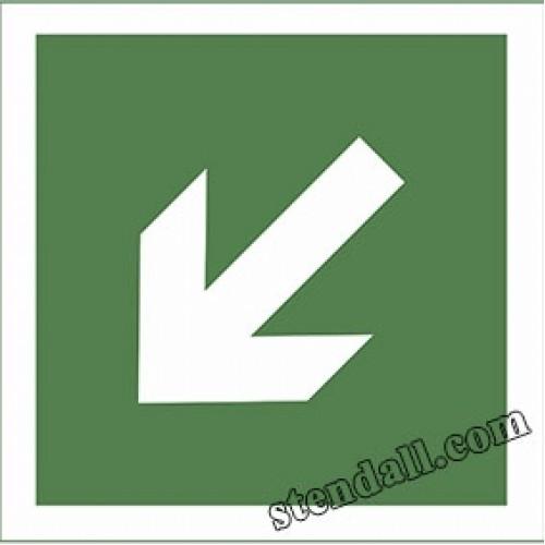 знак безпеки табличка Направляюча стрілка під кутом 45°