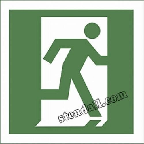знак безпеки двері евакуаційного вихоу наліпка 26