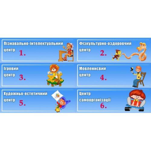 комплект табличок для ігрових зон 153