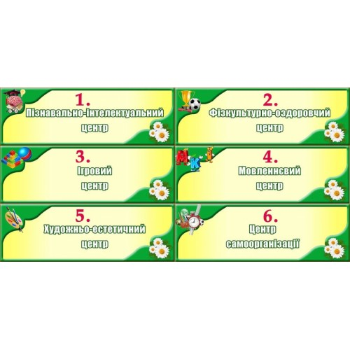 набір табличок для ігрових центрів ігрових зон 154