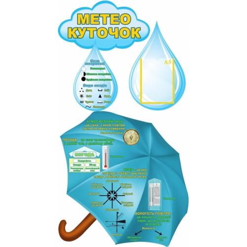 стенд метеокуточок парасолька в клас природознавства 15